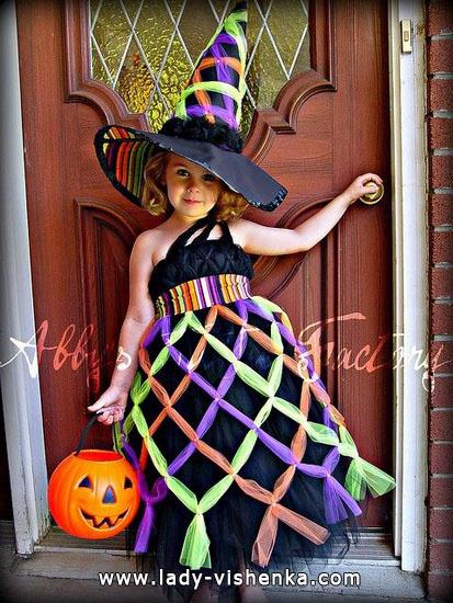7. Tyttöjen halloween asut (4-6-vuotiaalle)