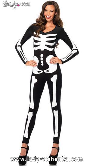 24. Naisen luuranko-asu Halloweeniksi