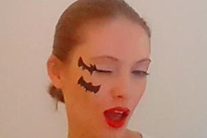Lepakko Halloween-meikki
