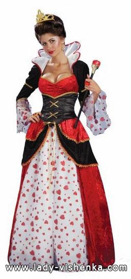 25. Herttakuningatar Halloween puku