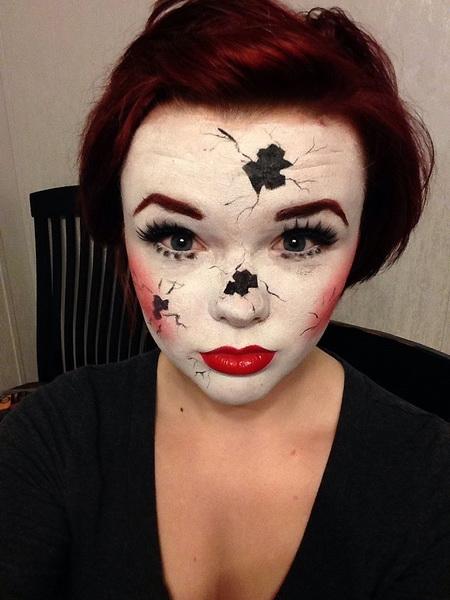 7. Pelottava Halloween-meikki
