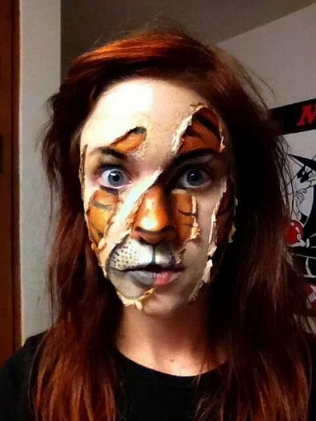 8. Pelottava Halloween-meikki