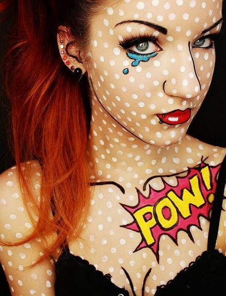 9. Pelottava Halloween-meikki