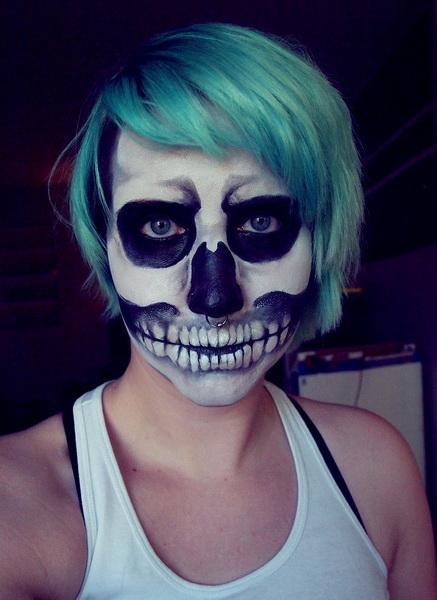 13. Pelottava Halloween-meikki
