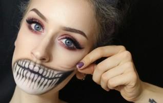 Pelottava Halloween-meikki