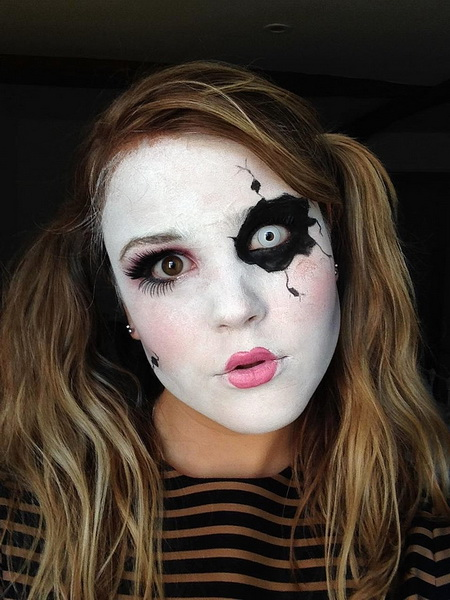 2. Pelottava Halloween-meikki