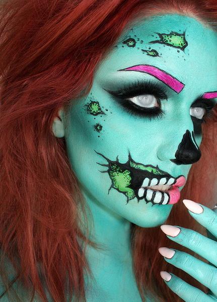 49. Pelottava Halloween-meikki