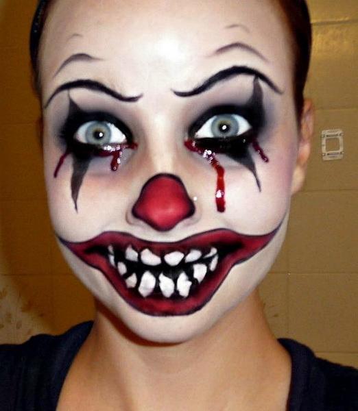3. Pelottava Halloween-meikki