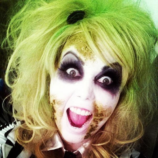 5. Pelottava Halloween-meikki